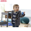 Baby Thick Wool Trench Coat Jacket - Baby Boys