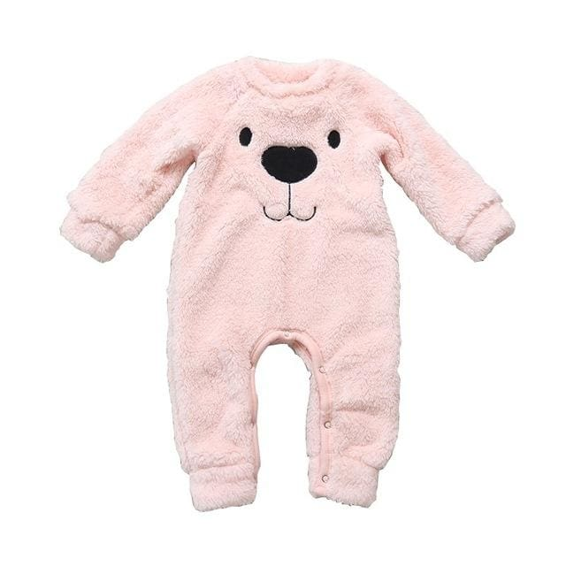 Baby Unisex Cashmere Bear Cartoon Rompers - Baby Boys