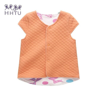 Baby Vest For Children Clothing Warm Vest Spring Autumn - Orange / 9M - Baby Girls