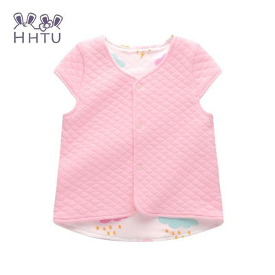 Baby Vest For Children Clothing Warm Vest Spring Autumn - Pink / 9M - Baby Girls