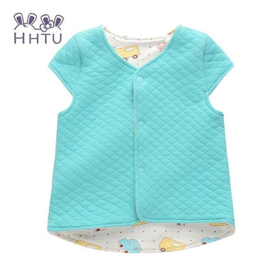 Baby Vest For Children Clothing Warm Vest Spring Autumn - Sky Blue / 9M - Baby Girls