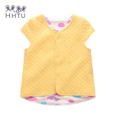 Baby Vest For Children Clothing Warm Vest Spring Autumn - Yellow / 9M - Baby Girls