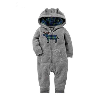 Baby Winter Thick Warm Long Sleeve Hooded - A / 9M - Baby Boys