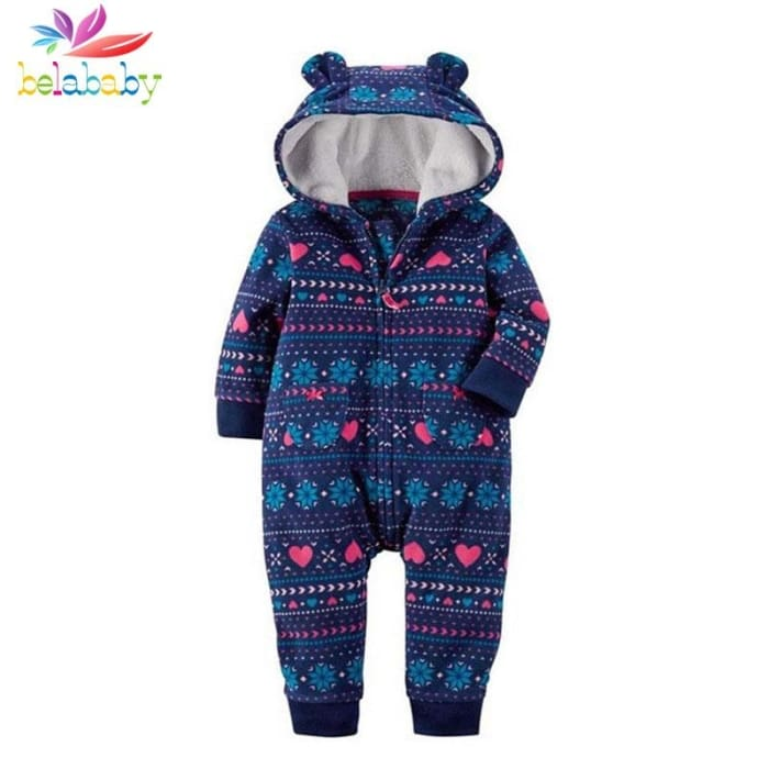 e7db6ef19d11 Baby Winter Thick Warm Long Sleeve Hooded