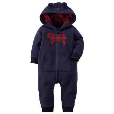 Baby Winter Thick Warm Long Sleeve Hooded - C / 9M - Baby Boys
