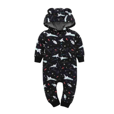 Baby Winter Thick Warm Long Sleeve Hooded - E / 9M - Baby Boys