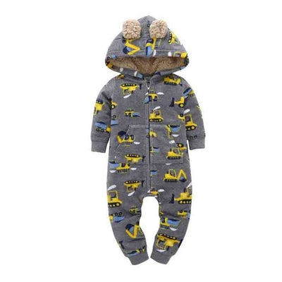 Baby Winter Thick Warm Long Sleeve Hooded - F / 9M - Baby Boys