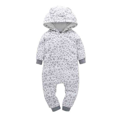 Baby Winter Thick Warm Long Sleeve Hooded - G / 9M - Baby Boys