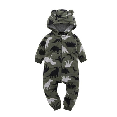 Baby Winter Thick Warm Long Sleeve Hooded - J / 9M - Baby Boys