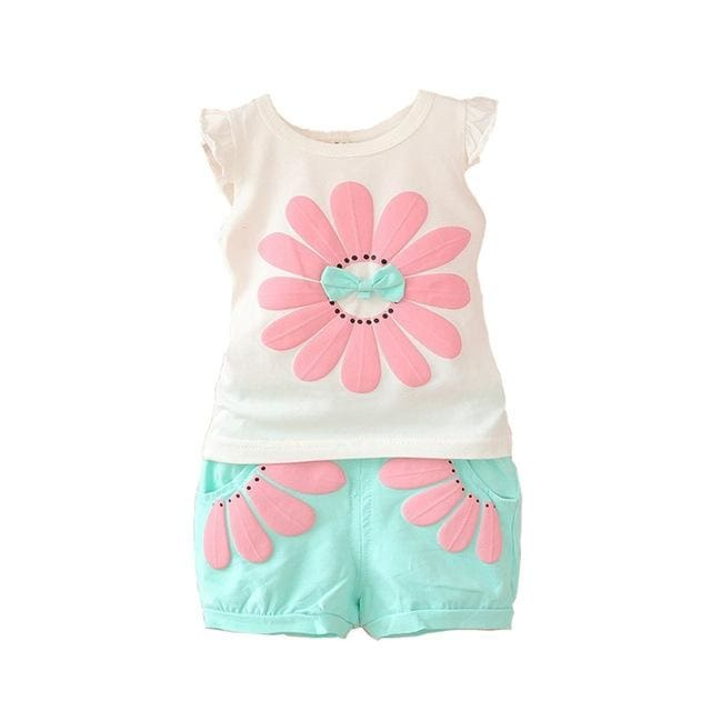 Bibicola Spring Autumn Girls Clothes Set T-Shirt+Pant Outfit - Baby Girls