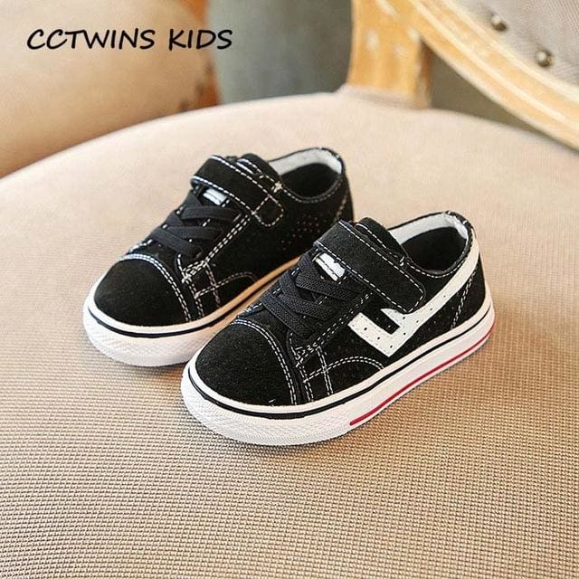 Black Casual Sport Sneaker - Boys