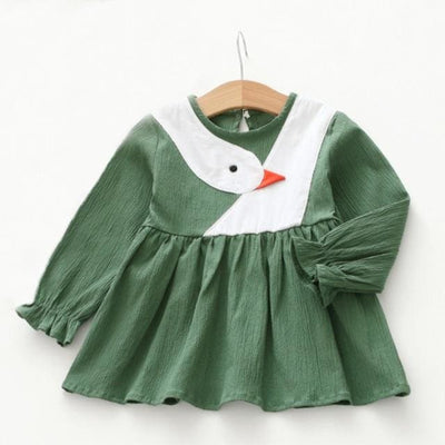Blanck&white Striped Mesh Design Princess Dress - Green / 3Y - Girls