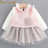 Blouse Lace Crew Neck Kids Shirts - Girls