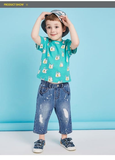 Boys 100% Cotton T Shirt Tops - Boys