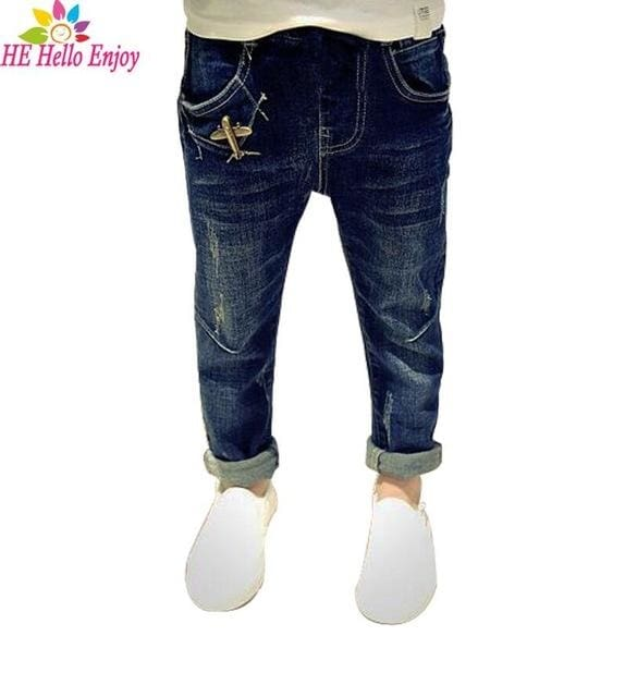 Boys Airplaneripped Denim Trousers - Boys