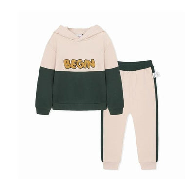 Boys Autumn Sports Hoodies+Pants Outfit - White / 1Y 6M - Boys