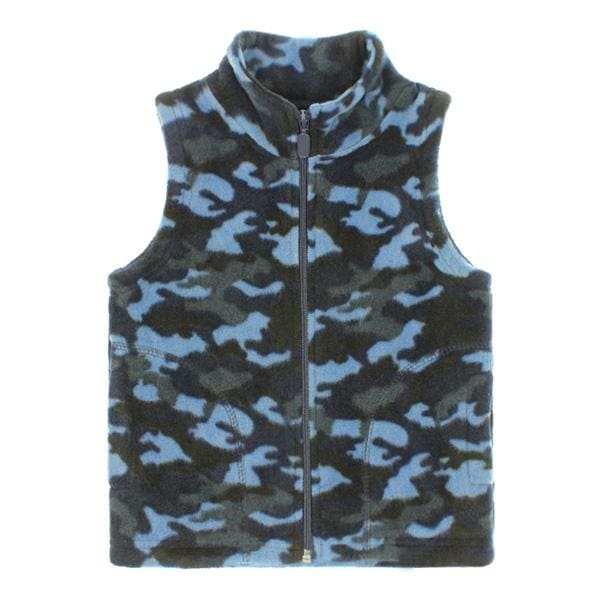 Boys Camouflage Fleece Vest - Boys