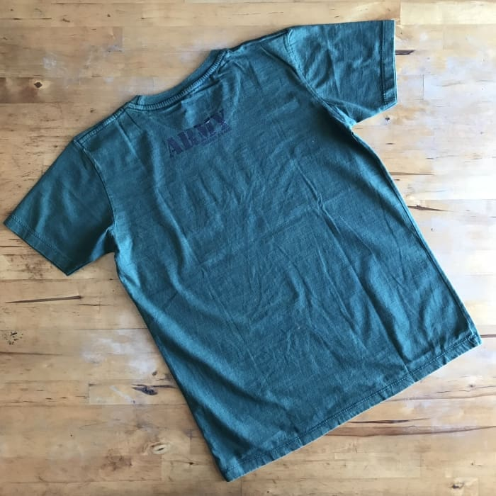 Boys Cotton O-Neck Army Short-Sleeve Summer Tops - Boys