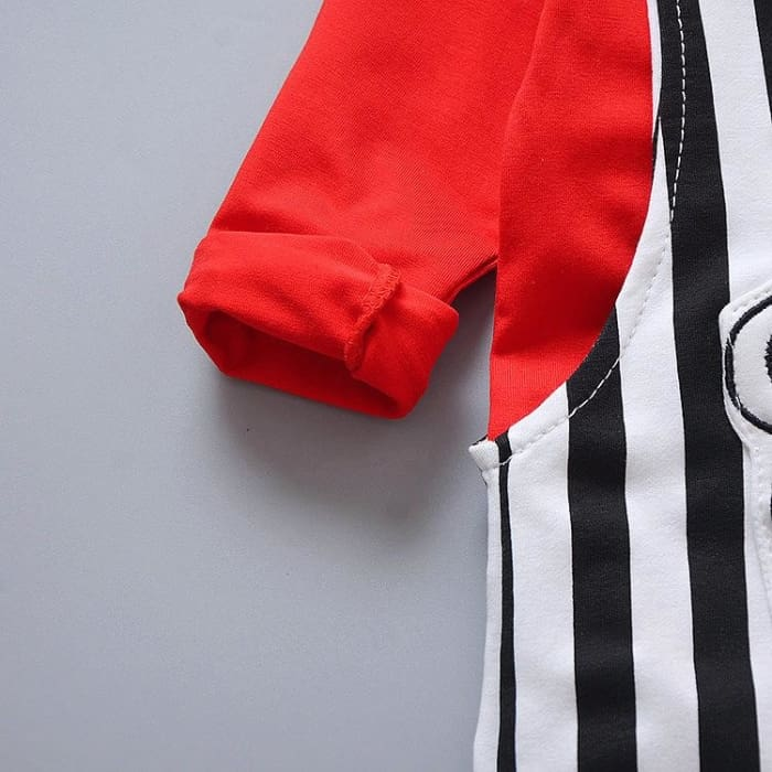 Boys Cotton Tracksuits T Shirt Stripe 2Pcs - Baby Boys