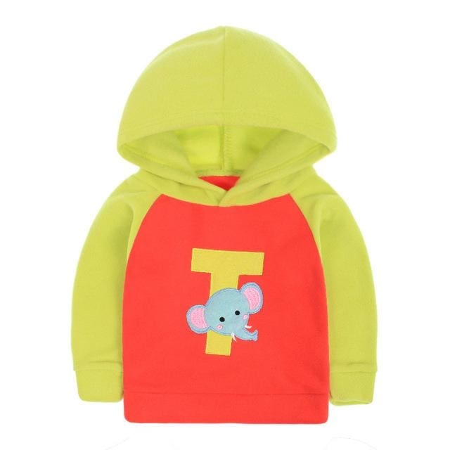 Boys Cute Cartoon Pattern Hooded Jumpers Sweatshirt - Boys