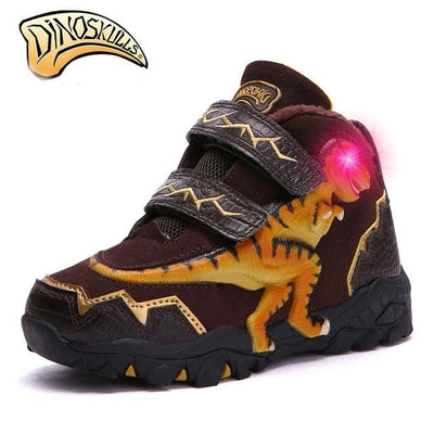 Boys Dinosaur Genuine Leather Boots - As Picture 1 / 10Y - Boys