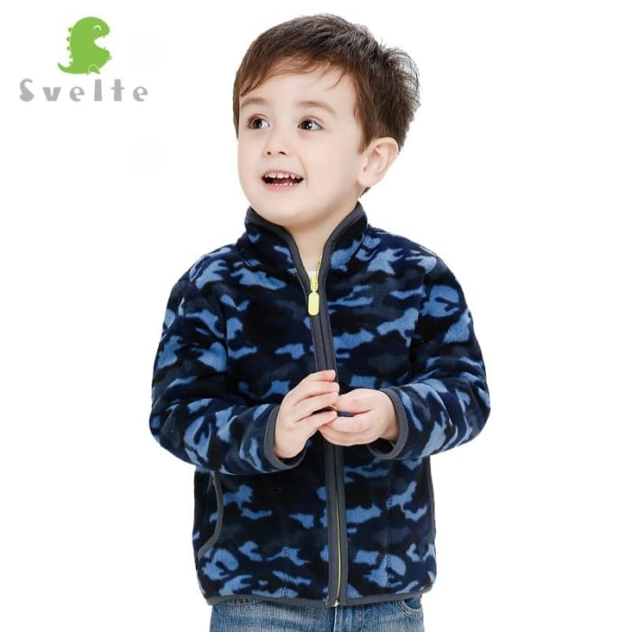 Boys Heavy Fleece Camouflage Outerwear - Boys