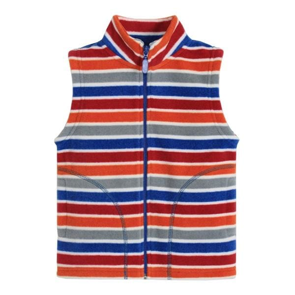 Boys Stripe Pattern Fleece Vest - Boys