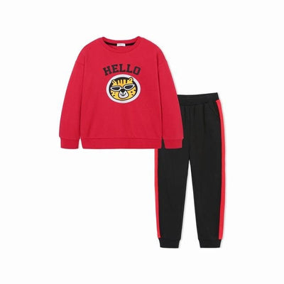 Boys Tracksuits Cute Animal Applique - 01 / 2Y - Boys