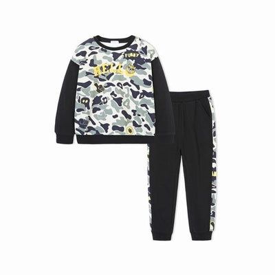Boys Tracksuits Cute Animal Applique - 02 / 2Y - Boys