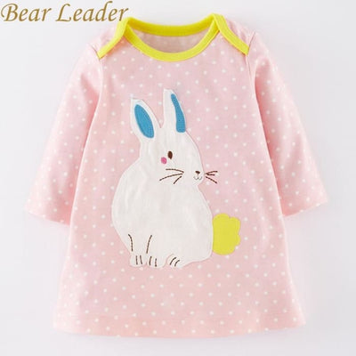Bunny Printing Design Baby Girls Dress - Girls