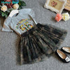 Camouflage Tulle Skirt With Tops - Girls