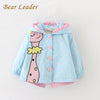 Cartoon Coats Dots Hooded Children Outerwear&coats - Girls