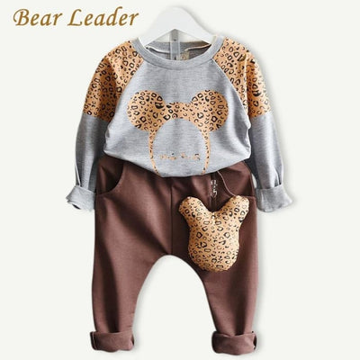 Cartoon Sweater+Pants 2Pcs Outfit - Girls