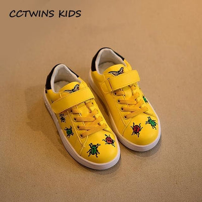 Casual Shoe Baby Girl Fashion Sport Sneaker - Yellow / 11 - Girls