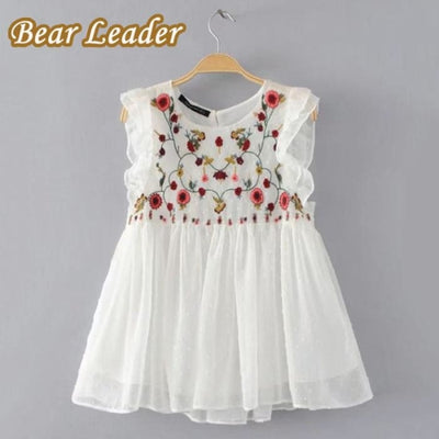 Casual Sleeveless Hollow Out Floral - Girls