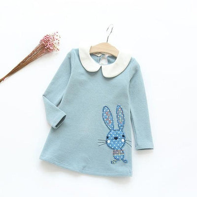 Casual Style Girls Clothes Cartoon Rabbit - Green / 3Y - Girls