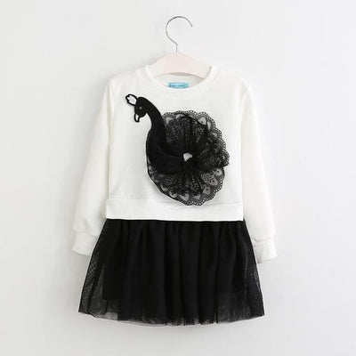 Casual Style Girls Clothes Cartoon Rabbit - White / 3Y - Girls