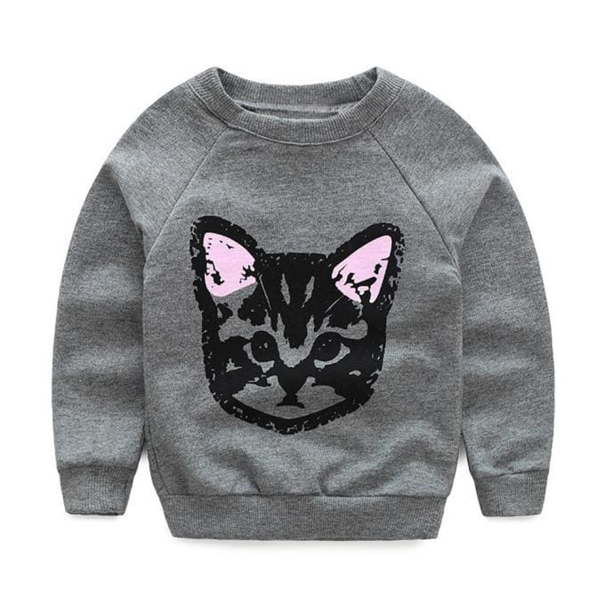 Cats Printed Sweatshirt With Hoodie And Pants 2Pcs - 2Y / China - Girls