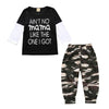 Clothes Suits Cotton Long Sleeve T-Shirt +Camouflage Pants - 2Y - Boys
