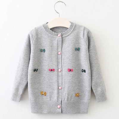Clothing Long Sleeve Outerwear Open Stitch - Gray / 3Y - Girls