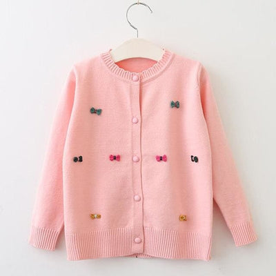 Clothing Long Sleeve Outerwear Open Stitch - Pink / 3Y - Girls
