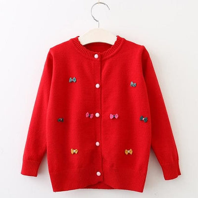 Clothing Long Sleeve Outerwear Open Stitch - Red / 3Y - Girls