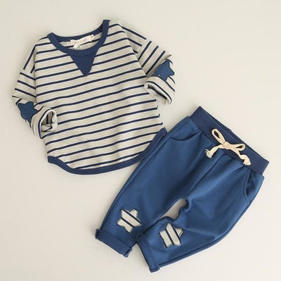 Clothing Sets Long Sleeve Striped - Blue / 1Y - Boys
