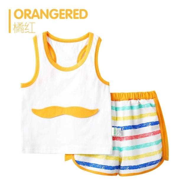 Cotton Striped Shorts Sleeveless - Baby Boys