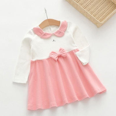 Cute Bow-Knot Dress - Pink / 3Y - Girls