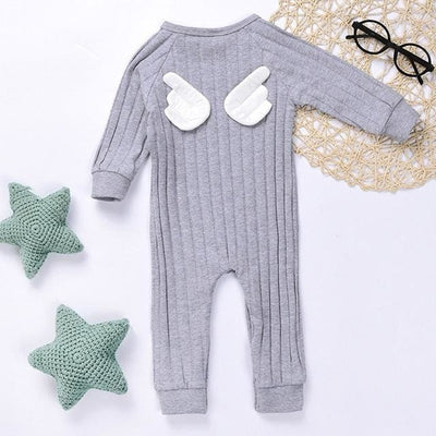 Cute Long-Sleeve Baby Jumpsuit - Gray / 1T - Baby Boys