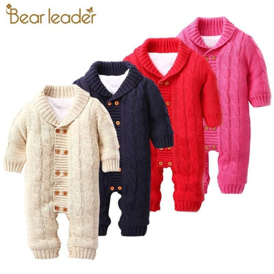 Double-Breasted Turn-Down Collar Baby Jumpsuits - Baby Boys