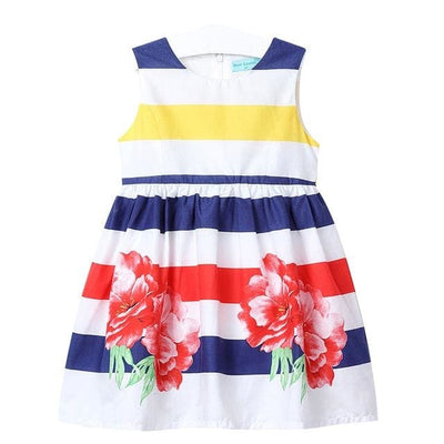Dresses Floral Sleeveless - Blue / 3Y - Girls
