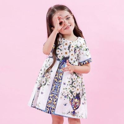 European And American Style Princess Dresses - White / 3Y - Girls