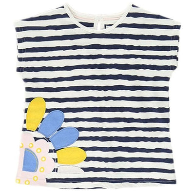 Fashion European And American Style Animal O-Neck - Stripe / 3Y - Girls